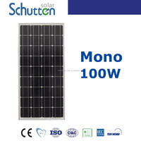Mono solar cells 125*125 solar panel 100w with high standard