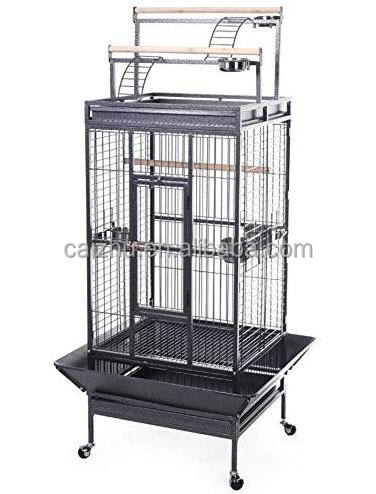 Top Play Stand Parrot Bird Finch Cage Cockatiel Parakeet Ladder Iron House Pet Supply