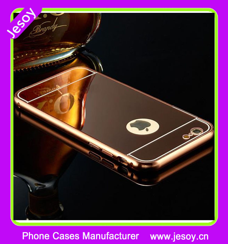 JESOY Metal aluminum bumper mirror case for lg <strong>k10</strong> v10 back phone cover