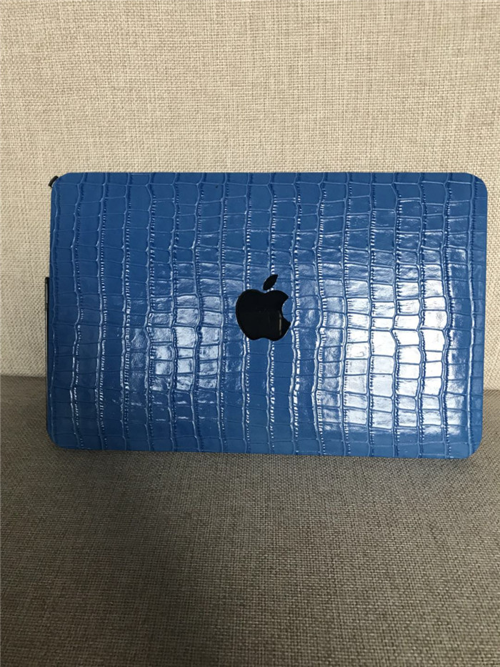 New fashion laptop covers real embossed crocodile leather case for macbook