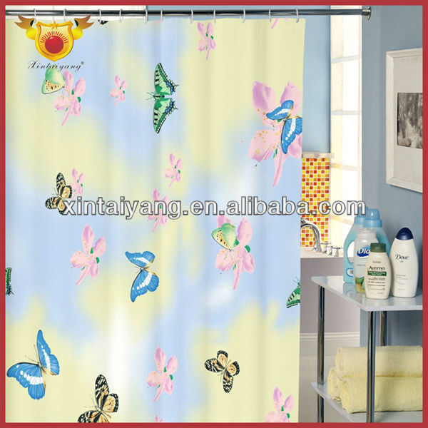 Butterfly Pattern Bathroom Shower Curtain Designs Curtains India