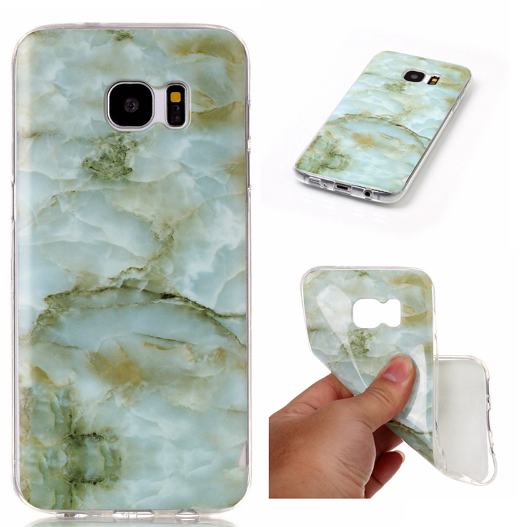 Granite Marble Design TPU Painting Case Cell Phone Protective Cover Shell For htc one m7