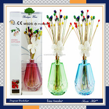 Color crystal bottle aroma oil diffuser air freshener/reed diffuser