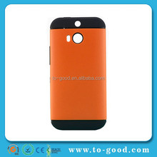 Hybrid Shockproof Mobile Phone Case For HTC One M8 (Orange)