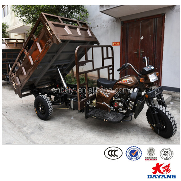 motorized 6 stroke three wheeler automatic 3 wheel hydraulic cargo tricycle for sale in Tanzania