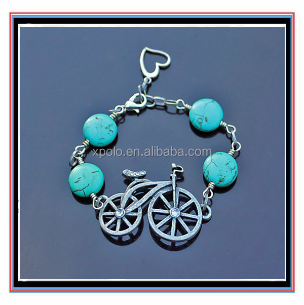 Fashion turquoise Bicycle Sport Bracelet Jewelry
