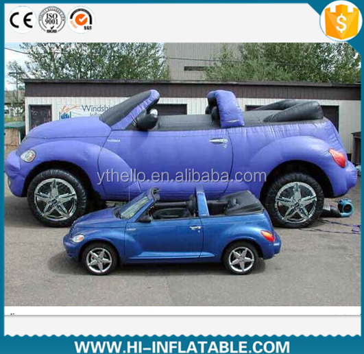 2015 Hot sale inflatable car, inflatable car model, car balloon for advertising