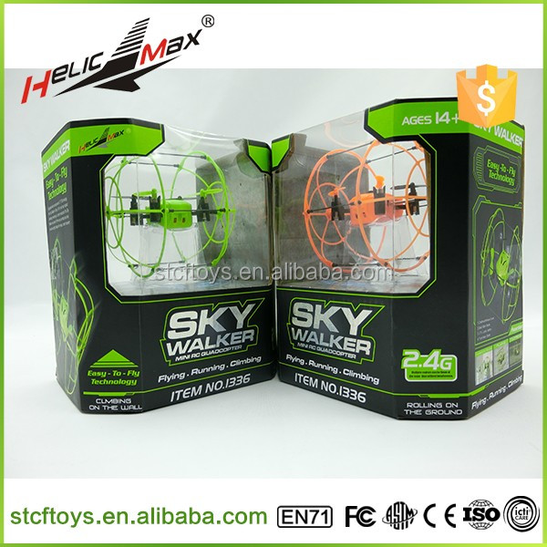 Original Helic Max Sky Walker 1336 <strong>Mini</strong> Drone 2.4G 4CH 3D Eversion Flying and Running RC Quadcopter with Ball Shaped Drone <strong>Mini</strong>
