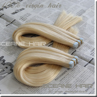 Top Grade hot sale blonde 613 tape hair extensions 613 tape hair extensions double sided cheap remy tape in hair extensions