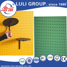 melamine mdf pedboard panel,Perforated board, Wooden Peg board