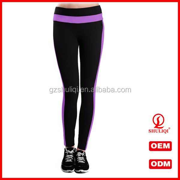 New winter cotton lined sports pants trousers cotton spandex polyester colorful yoga pants