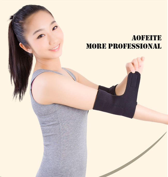 2017 hot sale tourmaline self-heating magnetic neoprene elbow brace for for sports elbow joint protection