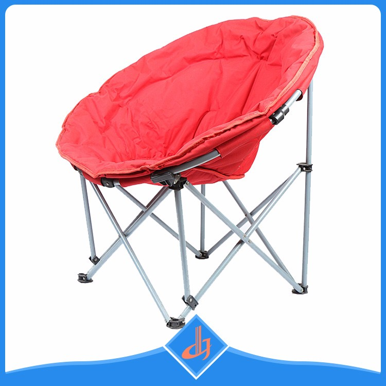 Orange Portable Round Fold Moon Camp Chair