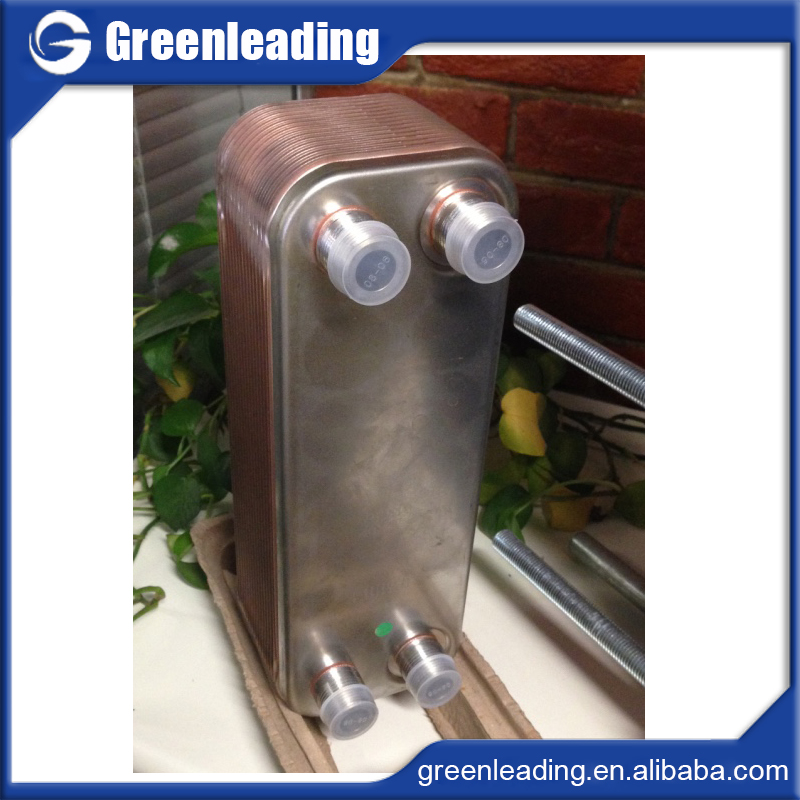 Brazed plate heat exchanger freon water, cooling or heating