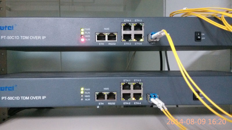 TDM over IP/8 E1,4 E1 /SFP optical /4 ETH interfaces