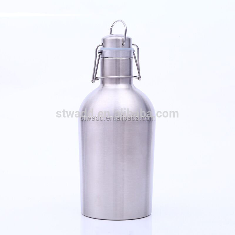 STWADD hot selling customized beer container STWADD double wall insulated vacuum stainless steel beer growler