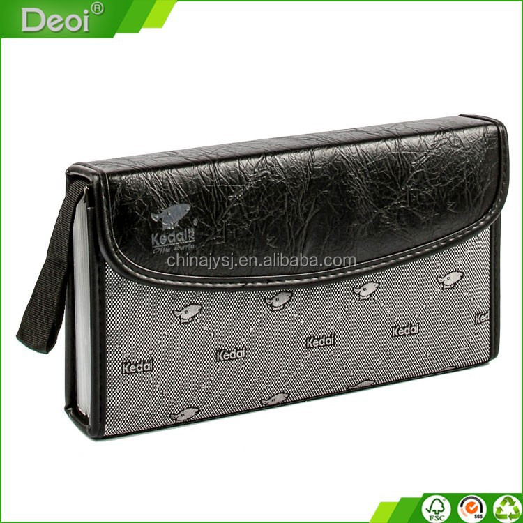 2015 latest new design Deoi brand ecofriendly pp plastic expanding file case with handle