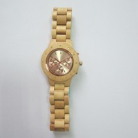 Natural bamboo men handmade wood watch with waterproof