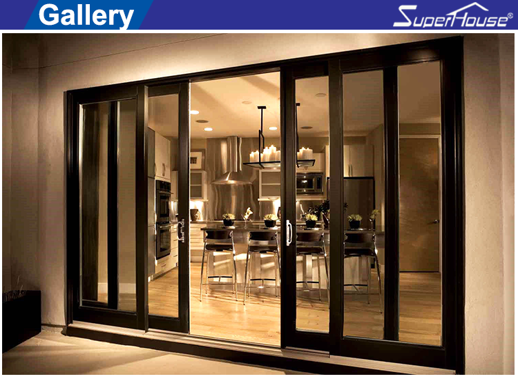 australian CSA standard and AS2047 Standard commercial system large china aluminum sliding glass door
