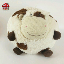 Customized soft plush stuffed animal cow shaped cushion toy