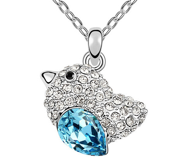 Alloy High Polished Crystal Necklace Jewelry Rhys Darby Sally Hawkins Acted The Film Love Birds Necklace For Women