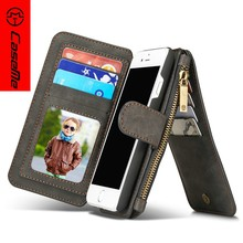 Wallet style CaseMe magnetic flip stand PC+PU leather mobile phone case for iPhone 7 for IPhone 8 Case