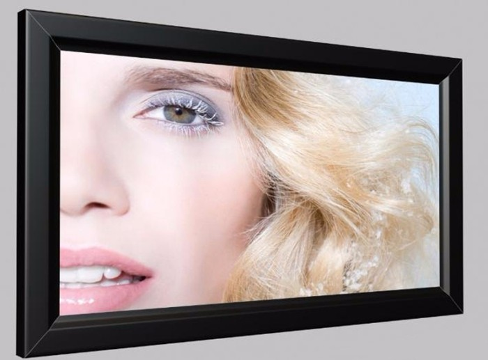 LED backlit aluminum poster snap frame light box