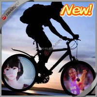 100 full color images and 216 leds bicycle wheel light, newest led products 2015