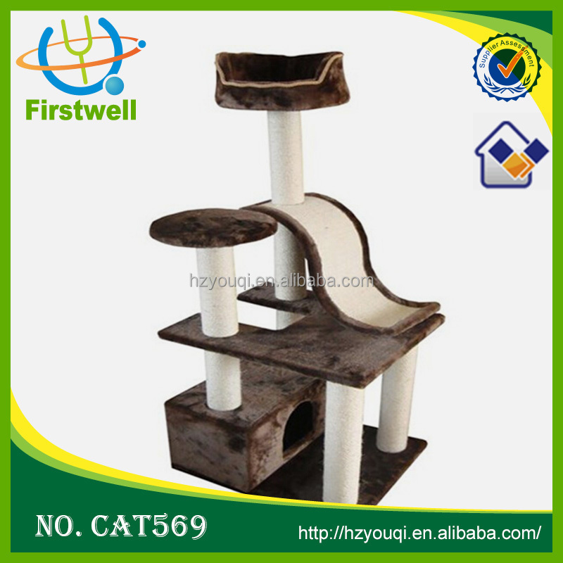 OEM available Top pet product&pet toy&wooden cat craft cat tree cat condo