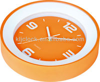 Hot Sale Wall Clock Orange Rim And Dial