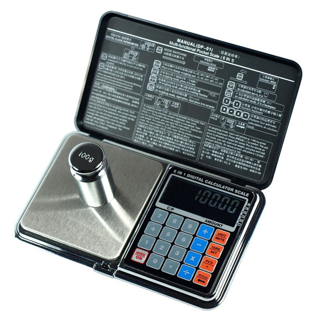 Digital Multi-function pocket Scale With Calculator,thermometer