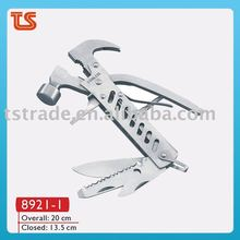 2014 Full stainless steel multi hammer use for camping/Claw hammer( 8921-1 )