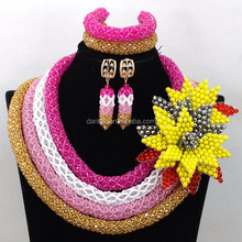 New indian dubai gold jewellery designs african beads jewelry set nigerian wedding
