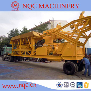 YHZS-50 mobile concrete batching plant seller (50m3/h)