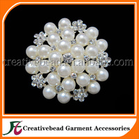 Flower Pearl Brooches And Diamante Brooches