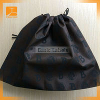 Natural Cotton Drawstring Shoe Dust Bag Printed As Custom For Hot Sale