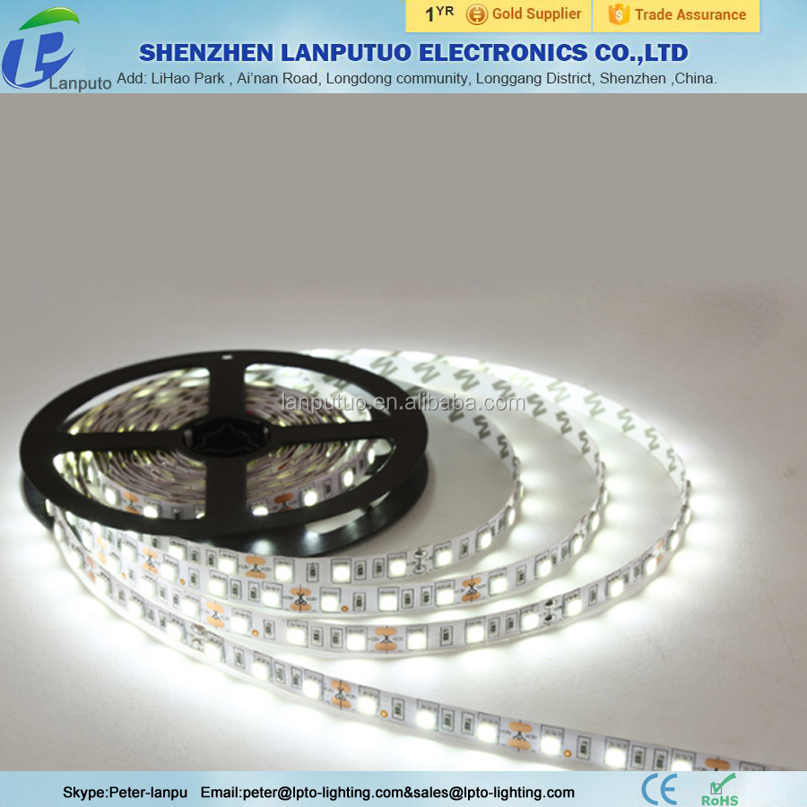 LED strip light : smd5050,60leds/m,W with 20-22lm for indoor decoration