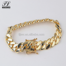 AAAAA bling bling 14k gold cuban link chain for sale+cuban link chain and bracelet set
