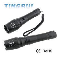 XML T6 LED rechargeable Zoomable tactical flashlight reviews