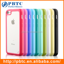 Mobile Phone Accessories 2016 Colorful TPU Clear Case For iPhone 5C