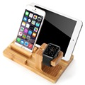 100% Natural Bamboo Wood Watch Stand Charging Stand Bracket Docking Station Stock Cradle Holder for phone pc
