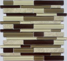 Reliable red black white grey crystal strip mosaic lowes shower tile