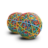 Durable and Multipurpose 41mm Colorful Rubber Band Ball