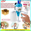 three brush cute wall mounted toothpaste dispenser tooth brush holder