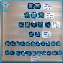 Synthetic square blue topaz