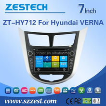 2015 best sale car dvd gps navigation system car accessories 2015 for Hyundai VERNA Accent car gps radio BT rds