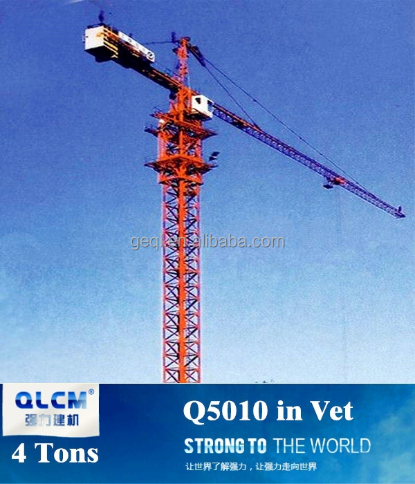4 tons used Tower Crane Q5010 for sale