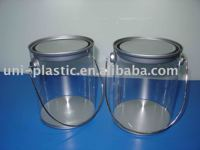 Custom portable small candy tin storage buckets with handle