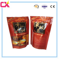 Manufaturers price plastic self standing aluminum foil ziplock bag for green tea/coffee/dry food/candy