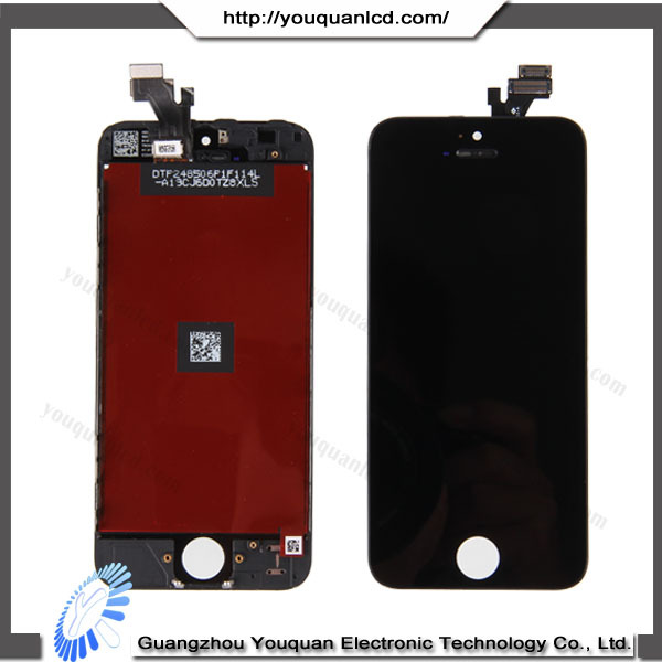 Wholesale new replacement LCD screen spare parts for iphone 5 repair,with digitizer assembly